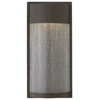 Hinkley 1344KZ Shelter 1 Light 18 inch Buckeye Bronze Outdoor Wall Mount, Clear Seedy Glass