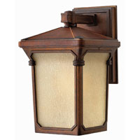 Hinkley Lighting Stratford 1 Light Outdoor Wall Lantern in Auburn 1350AU-ESDS