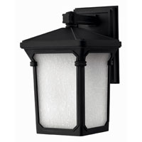 Hinkley Lighting Stratford 1 Light Outdoor Wall Lantern in Museum Black 1350MB-ESDS