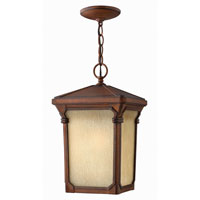 Hinkley Lighting Stratford 1 Light Outdoor Hanging Lantern in Auburn 1352AU-DS photo thumbnail