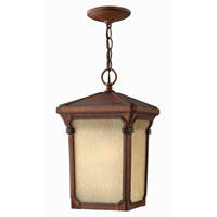 Hinkley Lighting Stratford 1 Light Outdoor Hanging Lantern in Auburn 1352AU-ES photo thumbnail