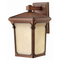 Hinkley Lighting Stratford 1 Light Outdoor Wall Lantern in Auburn 1354AU-LED