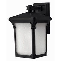 Hinkley Lighting Stratford 1 Light Outdoor Wall Lantern in Museum Black 1354MB-ES