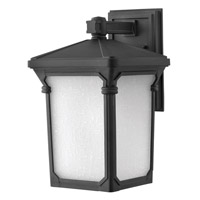 Hinkley Lighting Stratford 1 Light Outdoor Wall Lantern in Museum Black 1354MB-LED