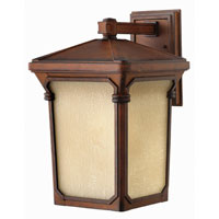 Hinkley Lighting Stratford 1 Light Outdoor Wall Lantern in Auburn 1355AU-ES