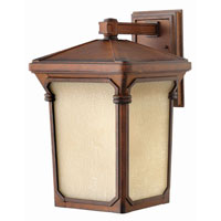 Hinkley Lighting Stratford 1 Light Outdoor Wall Lantern in Auburn 1355AU-LED