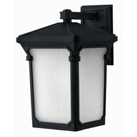 Hinkley Lighting Stratford 1 Light Outdoor Wall Lantern in Museum Black 1355MB-ESDS photo thumbnail