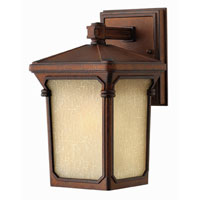Hinkley Lighting Stratford 1 Light Outdoor Wall Lantern in Auburn 1356AU-ES photo thumbnail