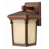 Hinkley Lighting Stratford 1 Light Outdoor Wall Lantern in Auburn 1356AU photo thumbnail