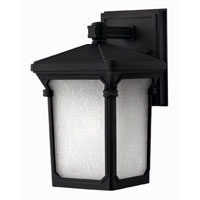 Hinkley Lighting Stratford 1 Light Outdoor Wall Lantern in Museum Black 1356MB-DS photo thumbnail