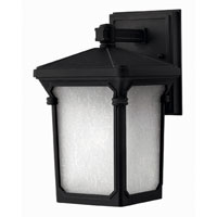 Hinkley Lighting Stratford 1 Light Outdoor Wall Lantern in Museum Black 1356MB-ESDS