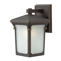 Stratford 1 Light 11 inch Oil Rubbed Bronze Outdoor Wall in LED, Seedy Linen Glass