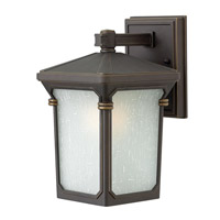 Stratford 1 Light 11 inch Oil Rubbed Bronze Outdoor Wall in Incandescent, Seedy Linen Glass