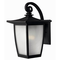 Hinkley Lighting Pearl 1 Light Outdoor Wall Lantern in Black 1364BK-DS