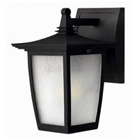 Hinkley Lighting Pearl 1 Light Outdoor Wall Lantern in Black 1366BK-ES