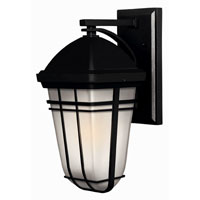 Hinkley Lighting Buckley 1 Light Outdoor Wall Lantern in Black 1370BK-ES