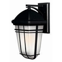 Hinkley Lighting Buckley 1 Light Outdoor Wall Lantern in Black 1374BK-LED