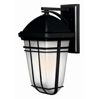 Hinkley Lighting Buckley 1 Light Outdoor Wall Lantern in Black 1374BK