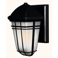 Hinkley Lighting Buckley 1 Light Outdoor Wall Lantern in Black 1376BK-ES