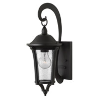 Hinkley 1380BK Chesterfield 1 Light 17 inch Black Outdoor Wall, Clear Seedy Glass