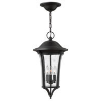 Chesterfield 3 Light 11 inch Black Outdoor Hanging, Clear Seedy Glass