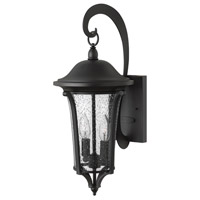 Chesterfield 2 Light 20 inch Black Outdoor Wall, Clear Seedy Glass