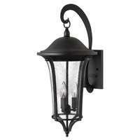 Hinkley 1385BK Chesterfield 3 Light 24 inch Black Outdoor Wall, Clear Seedy Glass