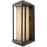 Hinkley 1395BZ Castelle 1 Light 18 inch Bronze Outdoor Wall Lantern in Amber Etched, Incandescent