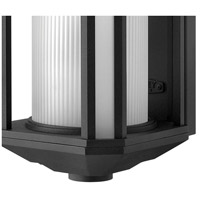 Hinkley 1395BK-LED Castelle LED 18 inch Black Outdoor Wall Mount, Ribbed Etched Cylinder Glass alternative photo thumbnail