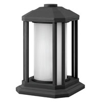 Hinkley Lighting Castelle 1 Light Pier Mount Lantern in Black 1397BK-ES photo thumbnail