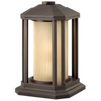 Hinkley 1397BZ Castelle 1 Light 13 inch Bronze Pier Mount Lantern in Ribbed Etched, Incandescent