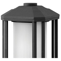Hinkley 1397BK-LED Castelle LED 13 inch Black Outdoor Pier Mount, Ribbed Etched Cylinder Glass alternative photo thumbnail