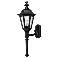 Manor House 1 Light 25 inch Black Outdoor Wall Lantern