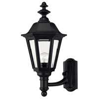 Manor House 1 Light 18 inch Black Outdoor Wall Mount