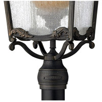 Hinkley 1421AI Sorrento 1 Light 29 inch Aged Iron Outdoor Post Mount in Clear Seedy and Optic Etched Amber, Post Sold Separately alternative photo thumbnail