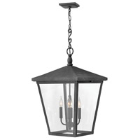 Trellis 4 Light 16 inch Aged Zinc Outdoor Hanging Lantern in Candelabra