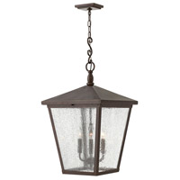 Trellis 4 Light 16 inch Regency Bronze Outdoor Hanging Lantern in Candelabra