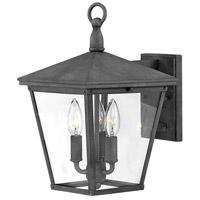 Trellis 3 Light 15 inch Aged Zinc Outdoor Wall Lantern, Small