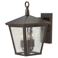 Trellis 3 Light 15 inch Regency Bronze Outdoor Wall Lantern in Incandescent, Clear Seedy Glass