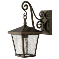 Hinkley 1430RB-LED Trellis 1 Light 15 inch Regency Bronze Outdoor Wall in LED, Clear Seedy Glass