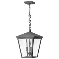 Trellis 3 Light 11 inch Aged Zinc Outdoor Hanging Lantern in Incandescent