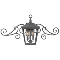 Trellis LED 15 inch Aged Zinc Outdoor Wall Mount