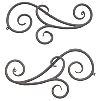 Trellis Aged Zinc Outdoor Scroll