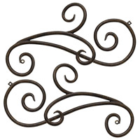 Trellis Regency Bronze Outdoor Scroll, Scrolls for 1433RB