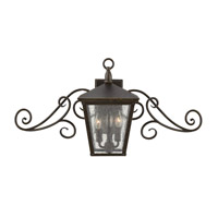 Hinkley Lighting Trellis 1 Light Outdoor Flush Lantern in Regency Bronze with Clear Seedy Glass 1433RB-LED