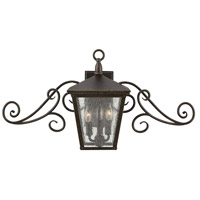 Hinkley 1433RB Trellis 3 Light 30 inch Regency Bronze Outdoor Flush Lantern in Incandescent, Clear Seedy Glass