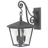 Hinkley 1434DZ Trellis 3 Light 20 inch Aged Zinc Outdoor Wall Mount in Incandescent, Medium