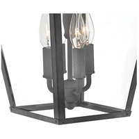 Hinkley 1435DZ Trellis 4 Light 22 inch Aged Zinc Outdoor Wall Mount in Incandescent, Large alternative photo thumbnail