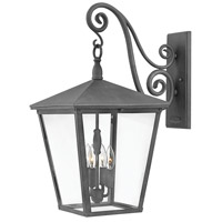 Hinkley 1438DZ Trellis 4 Light 26 inch Aged Zinc Outdoor Wall Mount in Incandescent, Extra Large