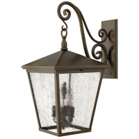 Trellis 1 Light 26 inch Regency Bronze Outdoor Wall in LED, Clear Seedy Glass